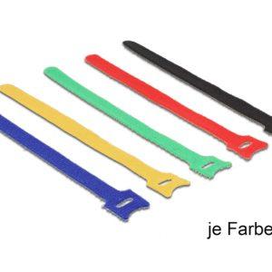 Delock Hurkolható rögzítők, 200 x 12 mm (H x Sz), 10 darab, színes